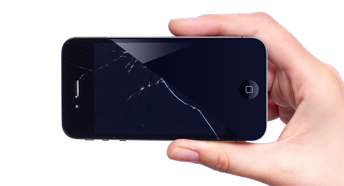 Cracked phone screen to new