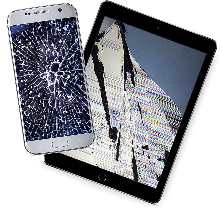 Devices with broken screens